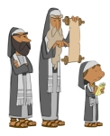 "Animation character designs by Cedric Hohnstadt of the Pharisees for the video series ""What's In The Bible?"""